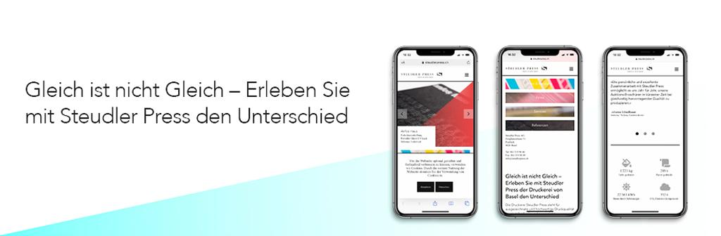 Webdesign für Steudler Press